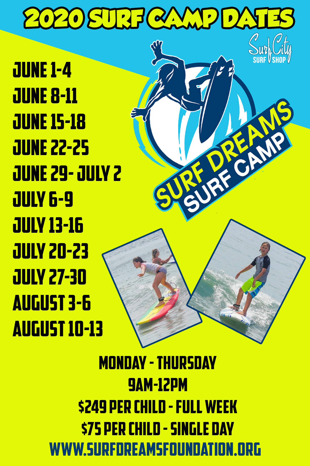 Surf camp dates